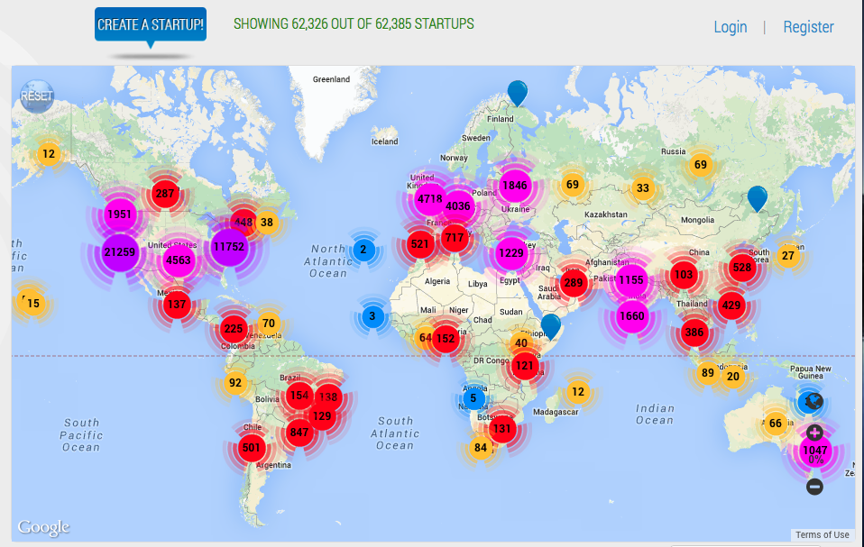 Startups Map