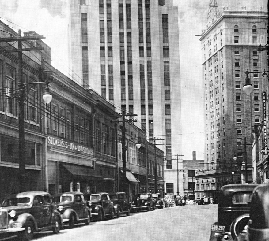 Durham's Black Wall Street in the early 20th century