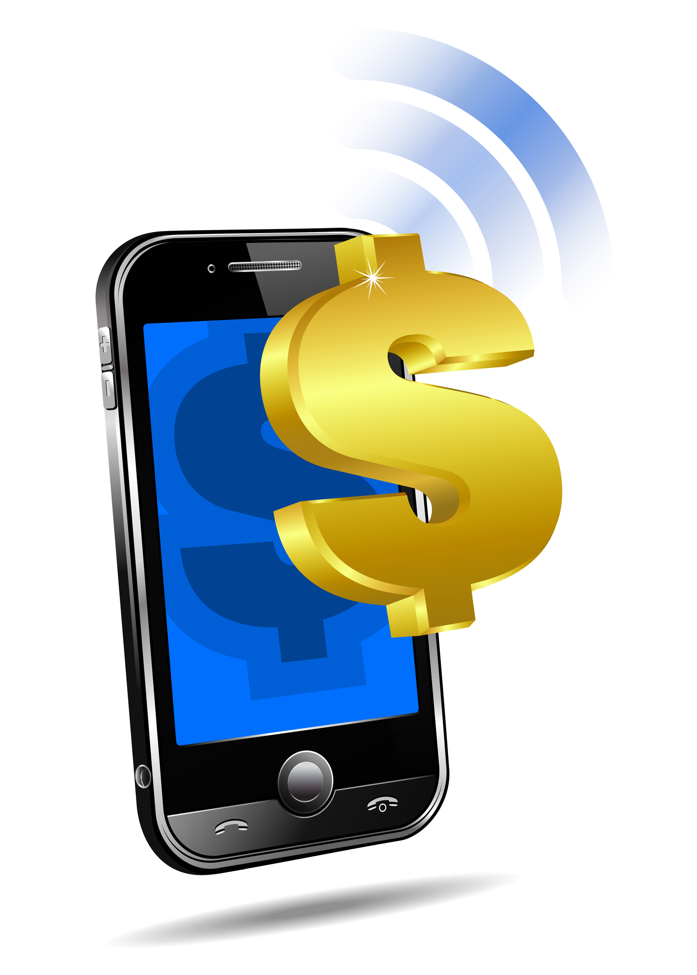 Mobile tariff and payment concept with money symbol