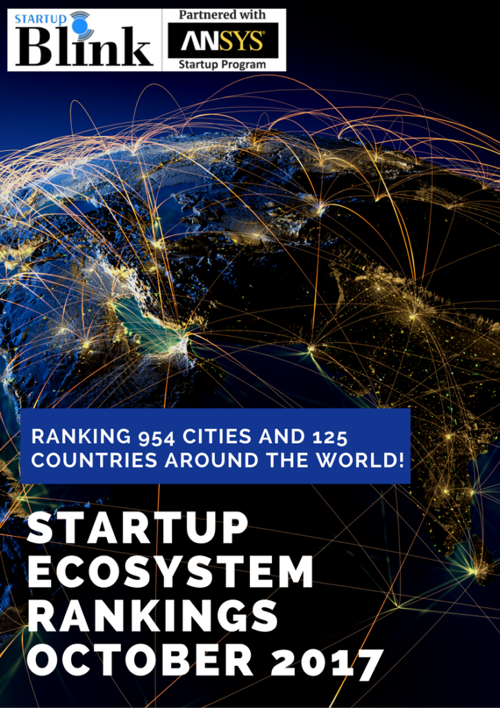 Startup Ecosystem Rankings October 2017